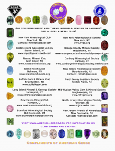 EFMLS Eastern Federation of Mineralogical and Lapidary Societies
