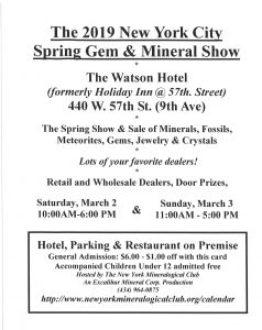 Spring NYC Mineral SHow